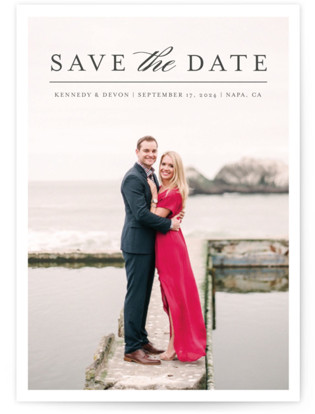Classic Save the Date Save the Date Petite Cards