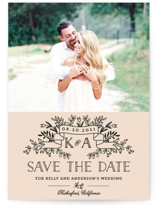 Wedding Bouquet Save the Date Petite Cards