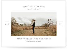 This is a black petite save the date by Ann Gardner called More Than a Crush with standard printing on smooth signature in petite.