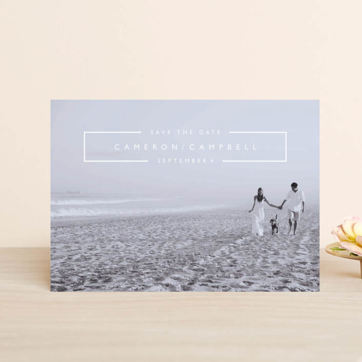 """""""Mag Spread"""" - Save The Date Petite Cards in Cloud by Kate Ross."""