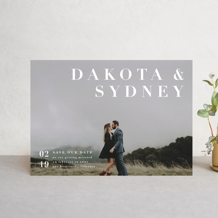 """""""minimalism"""" - Save The Date Petite Cards in Ivory by Four Wet Feet Studio."""