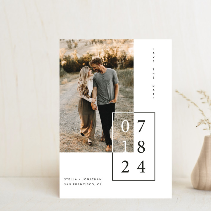 """""""Folio"""" - Save The Date Petite Cards in Noir by lulu and isabelle."""