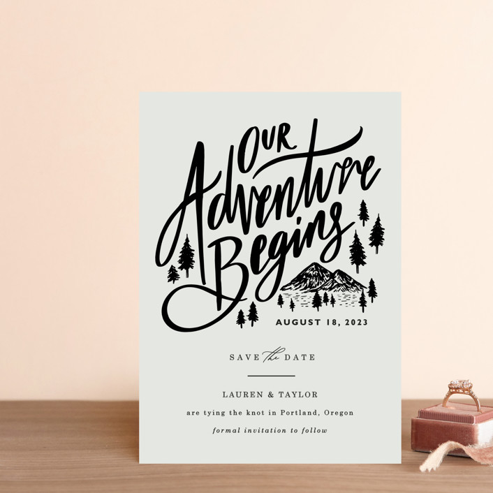 """""""Our Adventure"""" - Save The Date Petite Cards in Noir by Elly."""