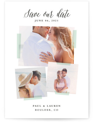 photo of Photo Overlay Save The Date Petite Cards
