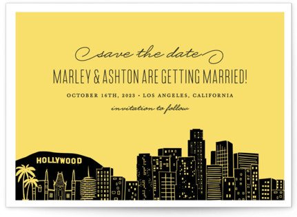 Big City - Los Angeles Save the Date Petite Cards