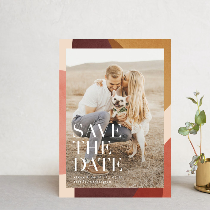 """Galeria"" - Save The Date Petite Cards in Autumn Desert by Kelly Schmidt."