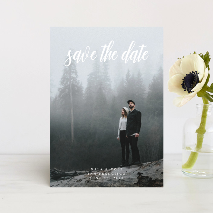 """""""mystic"""" - Classical, Formal Save The Date Petite Cards in Cotton by Kate Ross."""