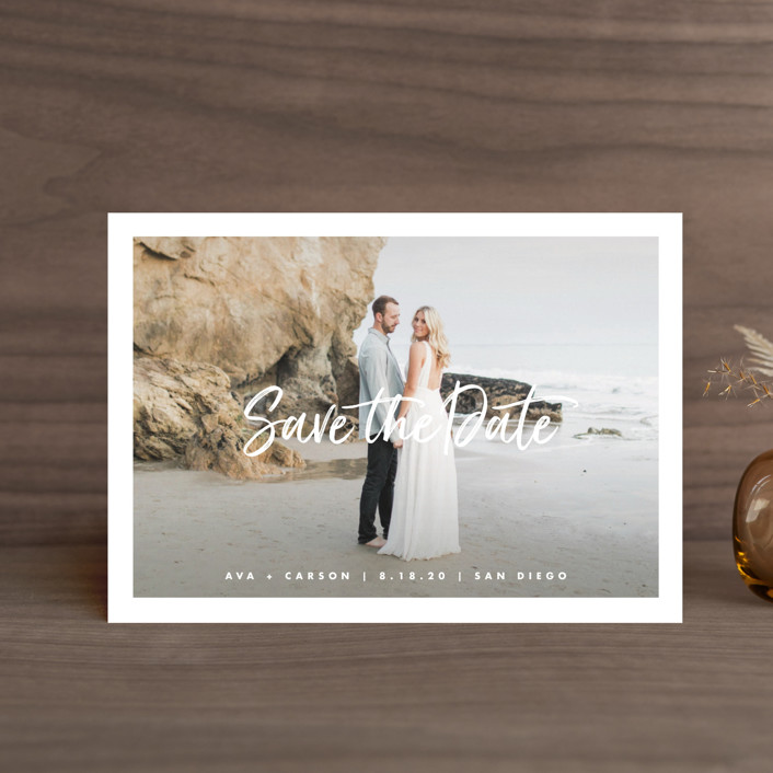 """""""Freshest"""" - Save The Date Petite Cards in Pearl by Lauren Chism."""
