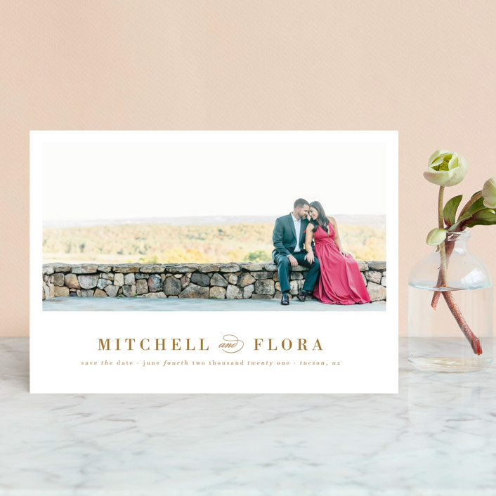 """""""Simply Stated"""" - Modern Save The Date Petite Cards in Charocal by Roxy Cervantes."""