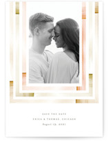 This is a orange petite save the date by Baumbirdy called freshly framed with standard printing on smooth signature in petite.