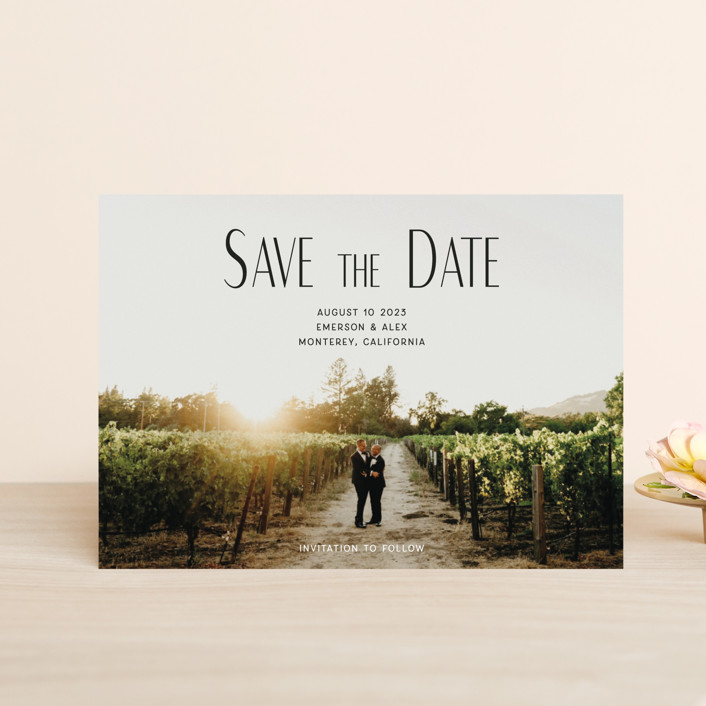 """""""it's our turn"""" - Save The Date Petite Cards in Noir by frances."""