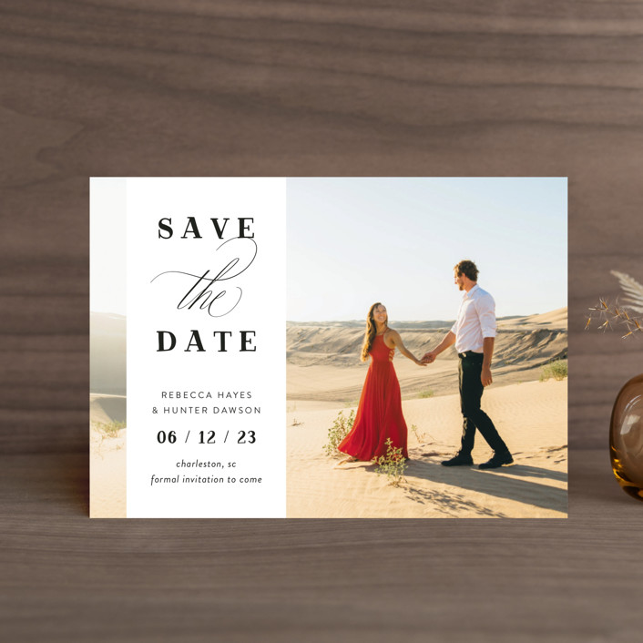"""""""Southern Charm"""" - Save The Date Petite Cards in Noir by Beth Murphy."""