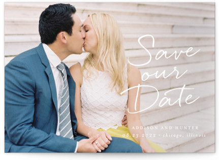 photo of Scripted Note Save The Date Petite Cards