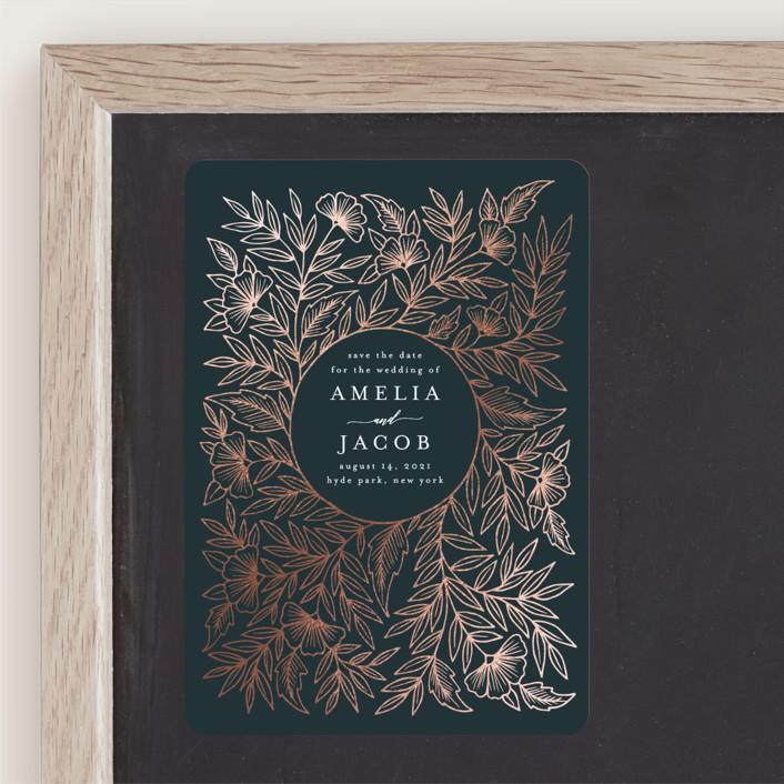 """Foiled Wreath Frame"" by Katharine Watson"