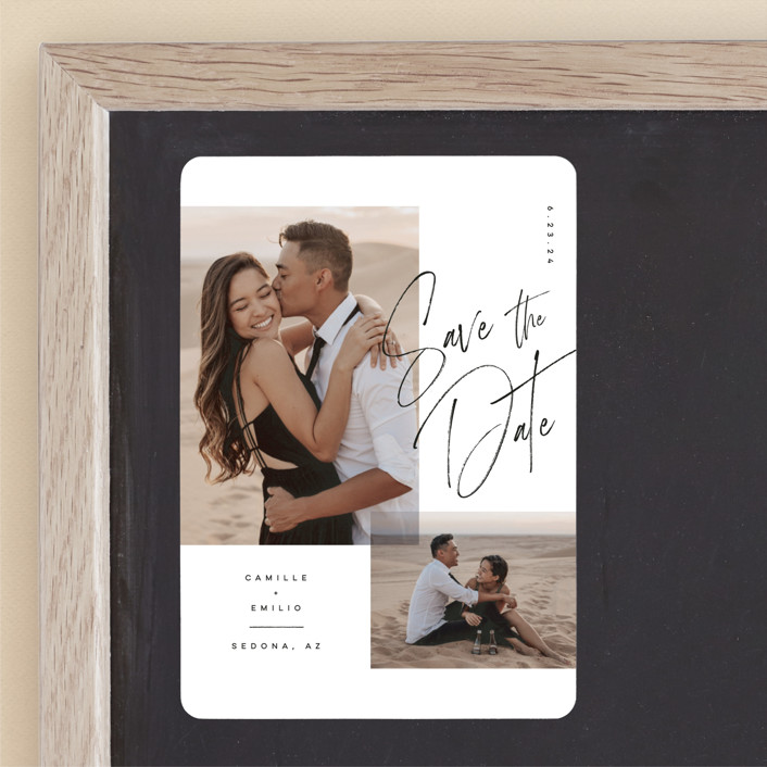 Flirt - Save The Date Magnets in Ink by Kristie Kern for Minted