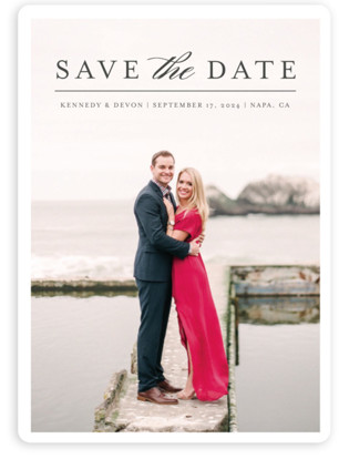 Classic Save the Date Save the Date Magnets