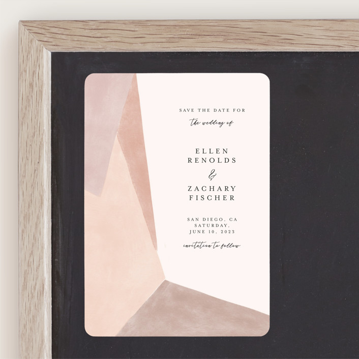 """""""Sand Shapes"""" - Modern Save The Date Magnets in Desert by Inkblot Design."""