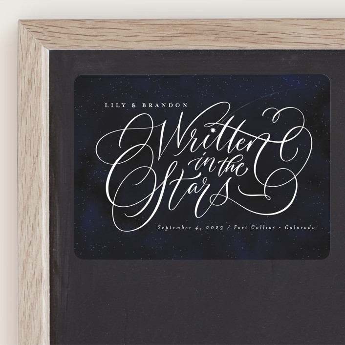 """""""Starry-Eyed"""" - Save The Date Magnets in Night Sky by Laura Bolter Design."""