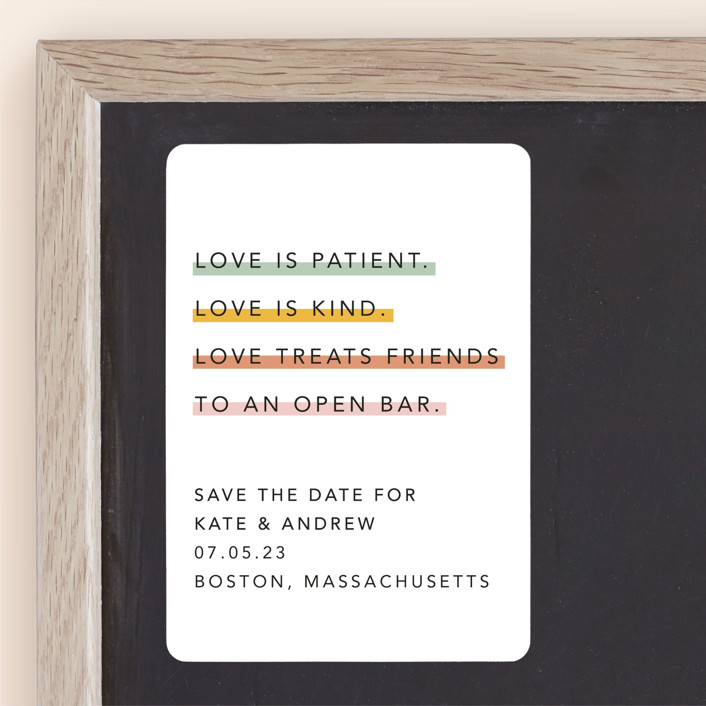 """Love is..."" - Save The Date Magnets in Sobert by Hudson Meet Rose."