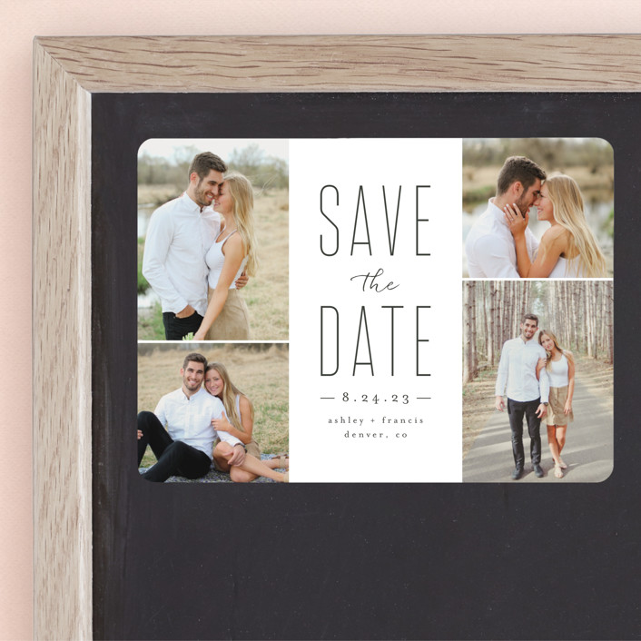 """Tall Love"" - Save The Date Magnets in Charcoal by peony papeterie."