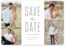 This is a grey save the date magnet by Brianne Larsen called Tall Love with standard printing on magnet paper in magnet.