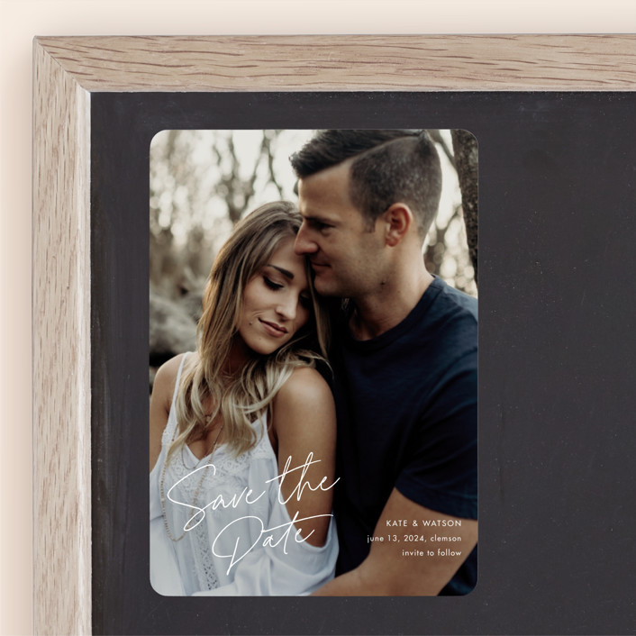 """Heartfelt"" - Save The Date Magnets in Canvas by Stacey Meacham."