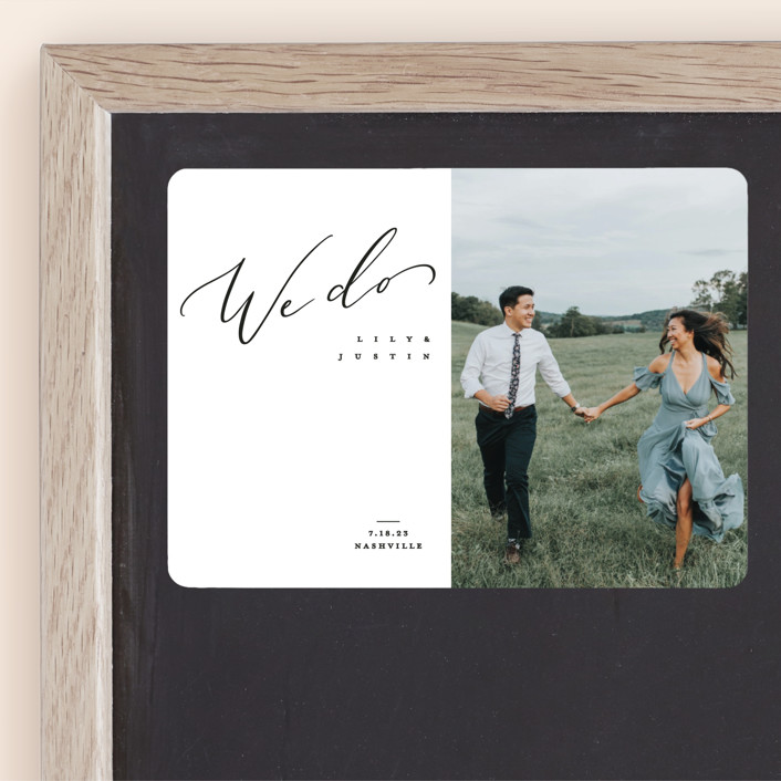 """Graceful"" - Save The Date Magnets in Lily by Owl and Toad."