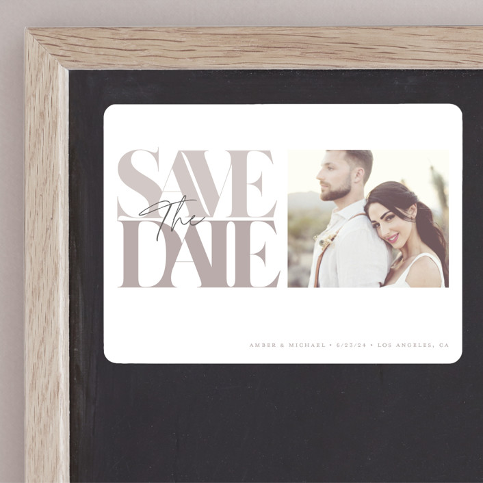 """""""Serifs"""" - Save The Date Magnets in Stone by GeekInk Design."""