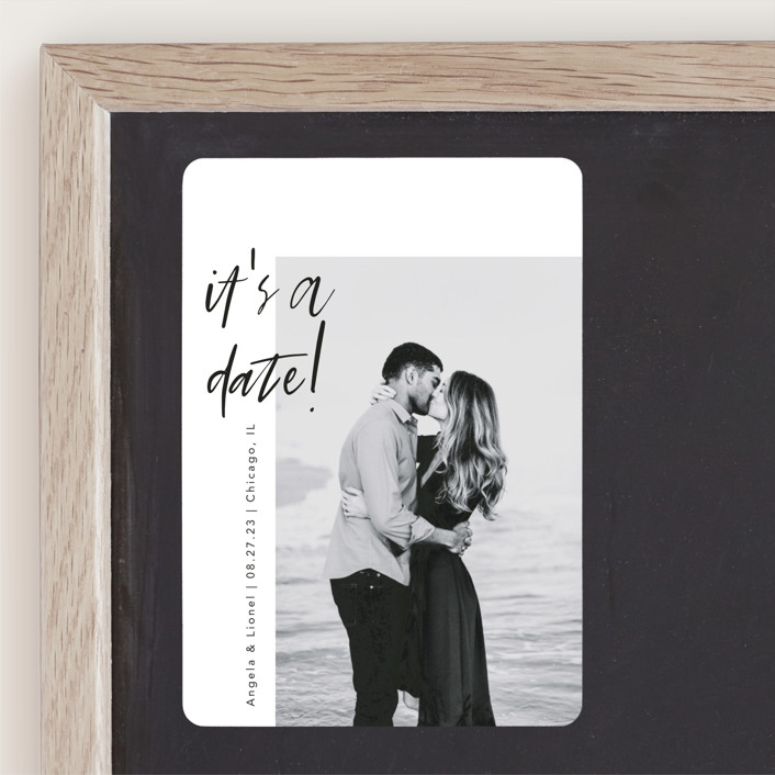 """A Date"" - Save The Date Magnets in Ink by lulu and isabelle."