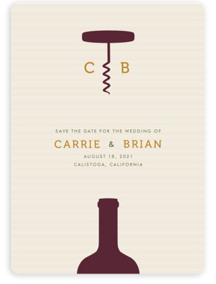 Uncorked Save The Date Magnets
