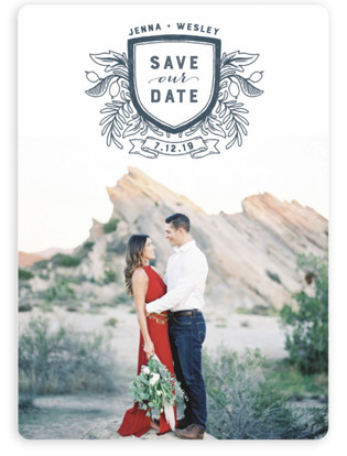 photo of Poetic Crest Save The Date Magnets
