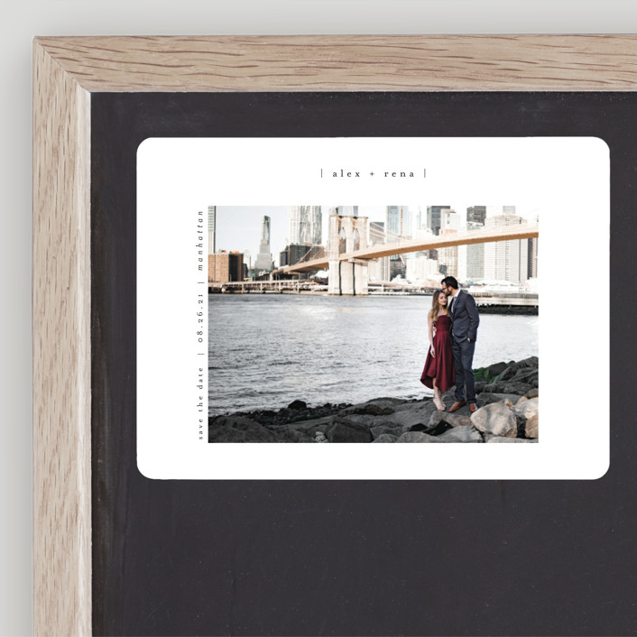 """""""Cityscape"""" - Save The Date Magnets in Onyx by Faith Dorn."""