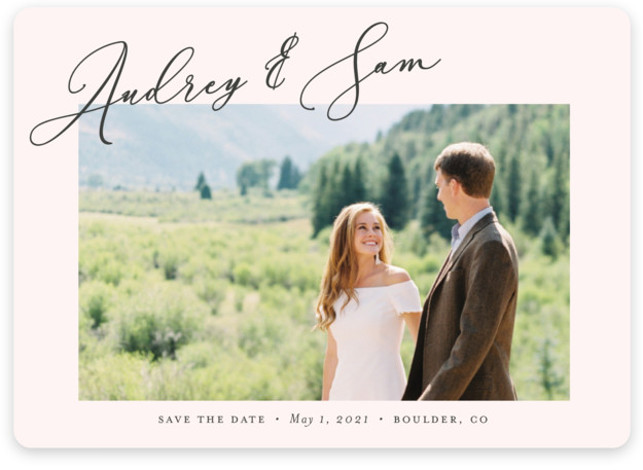 This is a simple and minimalist, pink Save the Dates by Nicoletta Savod called delicacy with Standard printing on Magnet Paper in Magnet Flat Card format. This chic Save the Date features elegant type and a modern design.