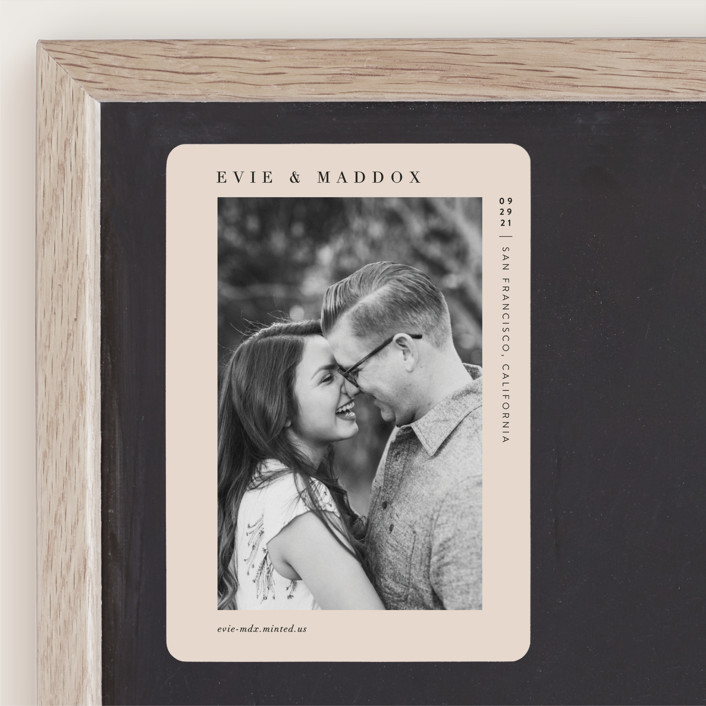"""""""Darling"""" - Save The Date Magnets in Blush by Pine and Lark."""