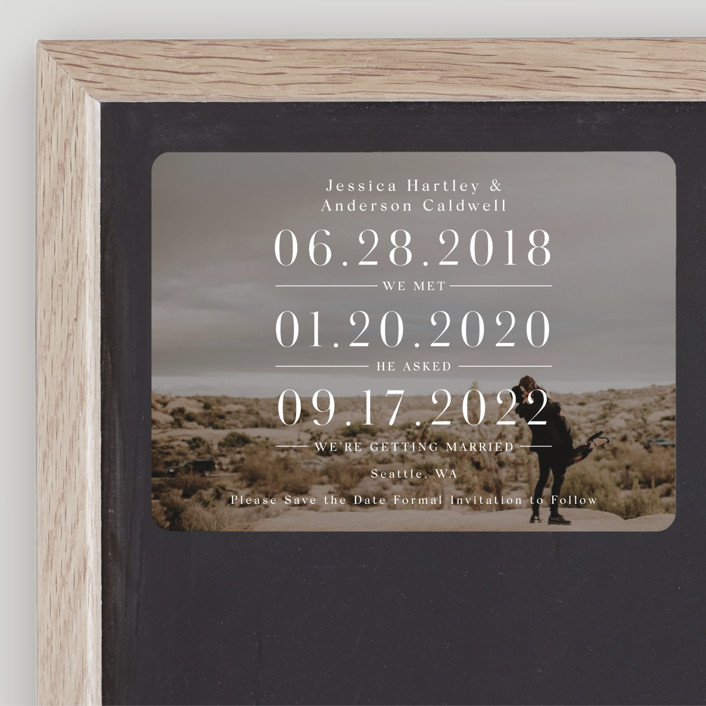 """""""Timing"""" - Save The Date Magnets in Ivory by Mayflower Press."""