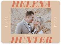 This is a orange save the date magnet by Ashlee Townsend called Terra Cotta with standard printing on magnet paper in magnet.