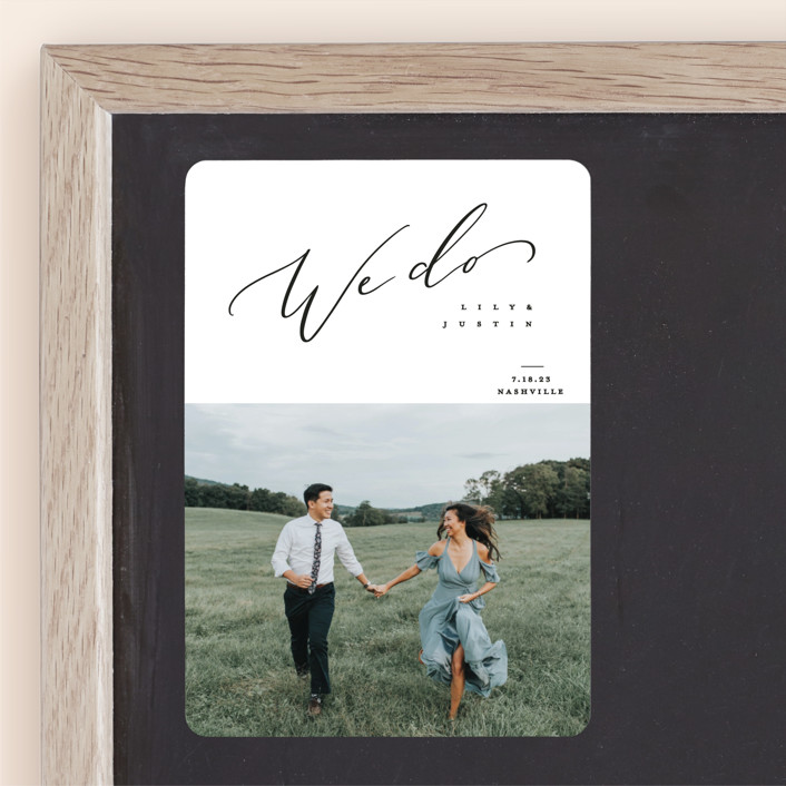 """""""Graceful"""" - Save The Date Magnets in Lily by Owl and Toad."""
