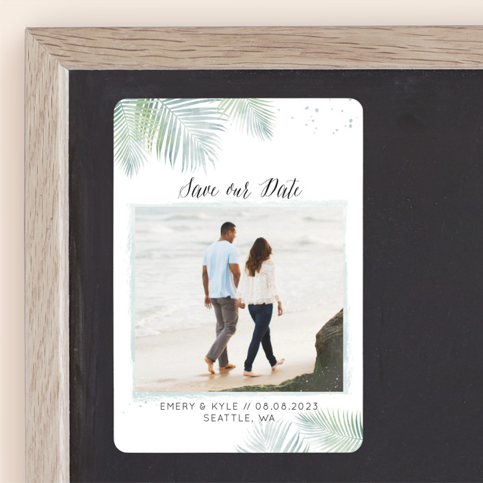 """""""Sunny Wedding"""" - Save The Date Magnets in Seafoam by My Splendid Summer."""