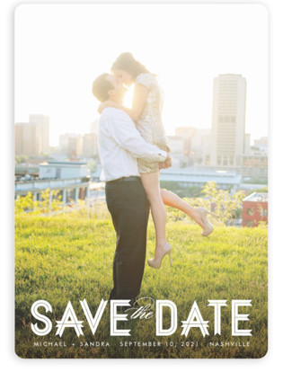 Modern Ribbon Save the Date Magnets