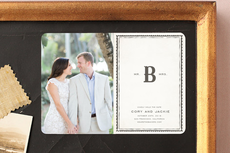 Mr + Mrs Monogram Save The Date Magnets