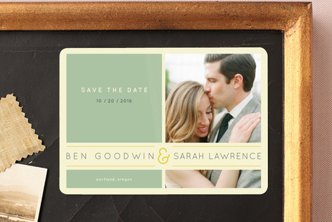 Subtle Chevron Save The Date Magnets