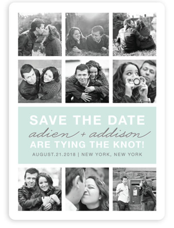 This is a portrait modern, blue Save the Dates by The Social Type called Photo Gallery with Standard printing on Magnet Paper in Magnet Flat Card format. Our most popular Save the Date designs are now available as beautiful, high ...