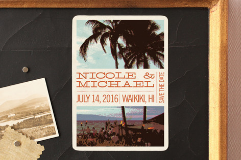 Coconut Plantation Save The Date Magnets