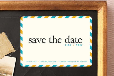 float + aerogram Save The Date Magnets