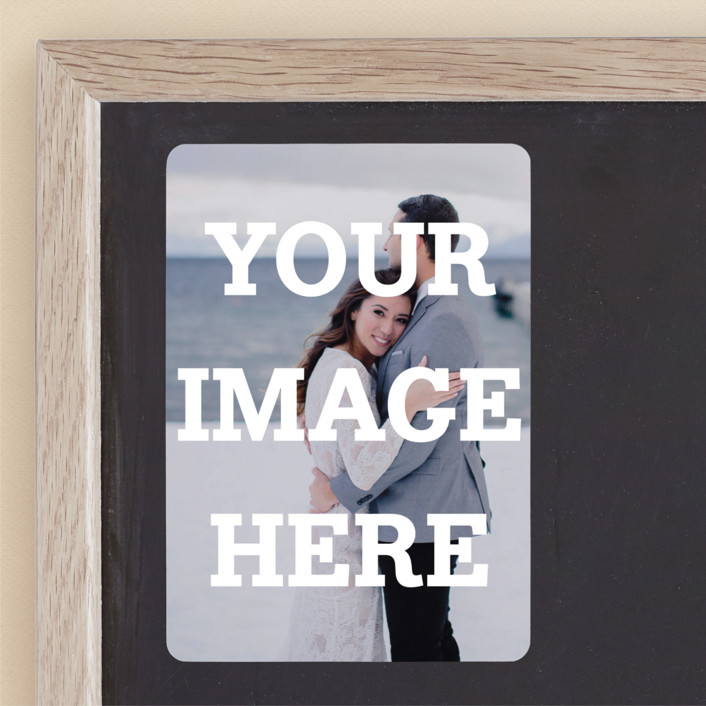 """""""The Big Picture"""" - Full-Bleed Photo Save The Date Magnets in Ivory by Minted."""
