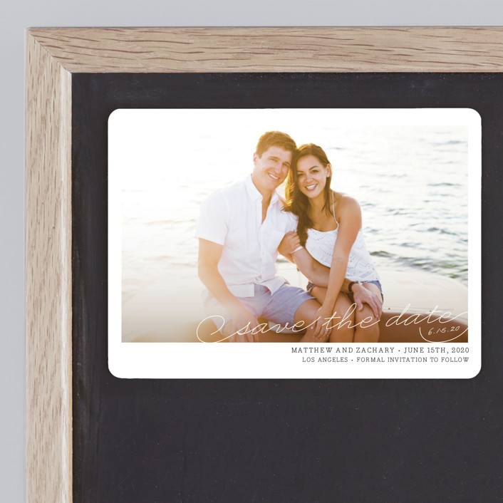 """Vintage Photograph"" - Save The Date Magnets in Antique White by annie clark."
