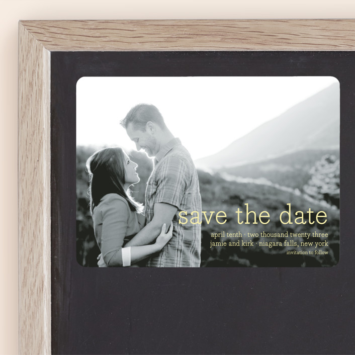 """""""Simply in Love"""" - Full-Bleed Photo, Simple Save The Date Magnets in Blizzard by annie clark."""
