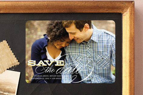 Calligraphy Save The Date Magnets
