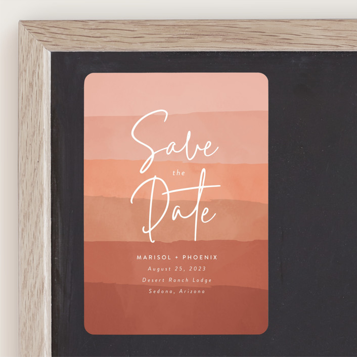 """""""desertscape"""" - Bohemian Save The Date Magnets in Canyon by Susan Asbill."""