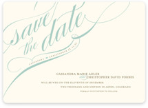 Winter Flourish Save The Date Magnets